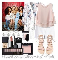 """""""Photoshoot for """"Black Magic"""" w/ girls"""" by ana-a-m ❤ liked on Polyvore featuring Charlotte Russe, River Island, Chicwish, Cornetti, Topshop, NARS Cosmetics, Forever 21 and Retrò"""