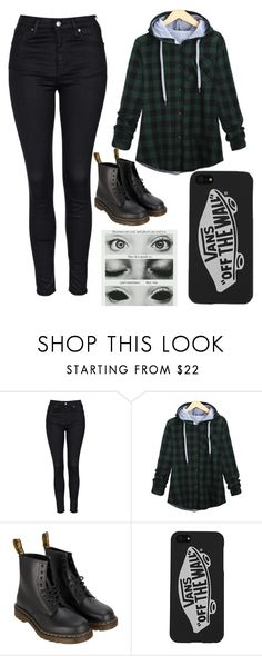 """Untitled #359"" by ilovepenguins604 ❤ liked on Polyvore featuring Topshop, Dr. Martens, Vans, women's clothing, women's fashion, women, female, woman, misses and juniors"