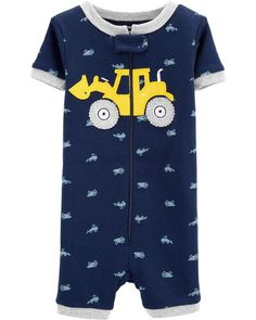 fb0b906c8 1-Piece Construction Snug Fit Cotton Footie PJs