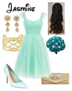 Disney - Jasmine   #Disney #Princess #Jasmine #Aladdin #1992 #WaltDisney #DisneyBound #Bridesmaid #Wedding