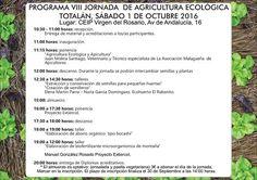 INTERIOR PROGRAMA JORNADAS AGRICULTURA ECOLÓGICA 2016