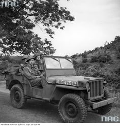 Jeep of Polish Army, Scaraborough, 1944.