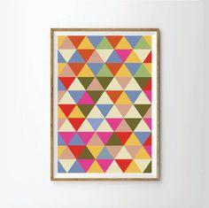35.00$ - Geometic poster, Geometric Art Print,  Abstract Art Print, Abstract Poster,  Retro Poster, Retro Art Print, Mid Century Print Poster