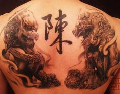 Asian Oriental Tattoo - Chinese Lions