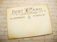 would love to design the invite to look like  a vintage postcard!
