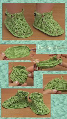 Crochet Deer, Crochet Baby Boots, Crochet Sandals, Booties Crochet, Crochet Baby Clothes, Crochet Slippers, Crochet Hats, Baby Booties Knitting Pattern, Crochet Shoes Pattern