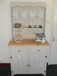 Shabby Chic Farmhouse Antique Pine Dresser Cream