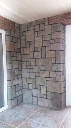 Fake Brick Wall, Faux Stone Walls, Faux Brick, Fake Stone, Brick And Stone, Stone Texture Wall, Stone Wall Design, Architecture Model Making, Garden Water Fountains