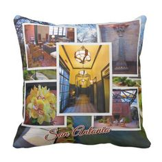 Traveling postcard san antonio texas souvenirs san antonio souvenirs throw pillow home gifts ideas decor special unique negle Gallery