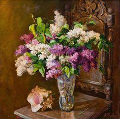 ЦветочноБукетноНатюрмортное...в мою галерею живописи.. Обсуждение на LiveInternet - Российский Сервис Онлайн-Дневников Victorian Art, Glass Vase, Floral Wreath, Wreaths, Bouquet, Plants, Paintings, Decor, Paint
