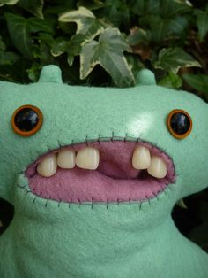 I love these nasty naughty monsters Not this Gappy Monster but one like it   a by cathairandteeth, £18.00