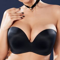 8ed00475be9 PLus Size Bandeau Gather Thin Push Up Seamless Multi-Ways Wearing Bras G Cup