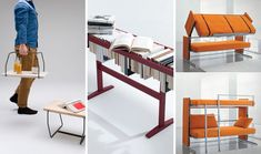 Small Space Solutions: 12 Cool Pieces of Convertible Furniture  -      I <3 Clever People!!!!