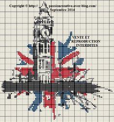 Big Ben cross stitch Big Ben point de croix
