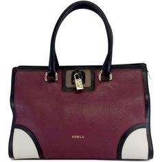Pre-owned Furla Burgundy Genuine Leather ($250) ❤ liked on Polyvore featuring bags, handbags, burgundy, purple handbags, burgundy handbags, tote purses, leather tote bags and purple leather tote