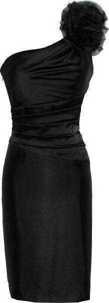 Amazon.com: One Shoulder Satin Sheath Formal Dress with Florettes Prom Gown Junior and Junior Plus Size: Clothing