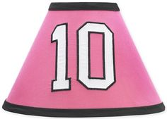 Sweet Jojo Designs Pink Soccer Lamp Shade available at TinyTotties.com #tinytotties #kidsroomdecor