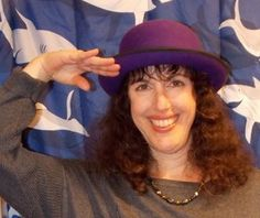 Author Susan Rich. The purple hat means these posts and videos are all about Bon's Magic Journey, my fantasy fiction thriller.