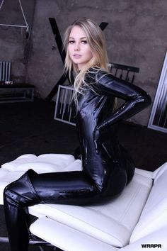 Angels in Tight Latex Catsuits
