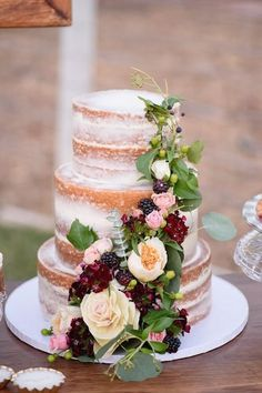 Image result for naked cake with lace