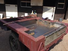 Whit the old floor cut out, I needed to footer up the new metal to the tub and chassis