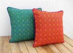 Rose et orange housse de coussin imprimé oreiller en coton