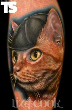 """This """"cattoo"""" by Liz Cook at Rebel Muse Tattoo in Dallas, TX"""
