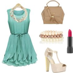 """""""bridal shower outfit as guest"""" by desirieds on Polyvore"""