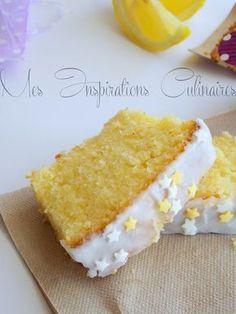 cake moelleux au citron (50 min de cuisson en le couvrant. Mettre 1 sachet entier de levure). Pour le glaçage : 120 g de sucre glace