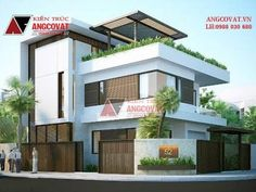 Bản vẽ thiết kế nhà 2 mặt tiền 3 tầng 140m2 mái bằng hiện đại