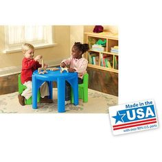 Little Tikes Table and Chair Set, Multiple Colors - Walmart.com