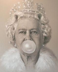 """""""Queen Elizabeth Bubblegum"""" artist Michael Moebius                                                                                                                                                                                 More"""