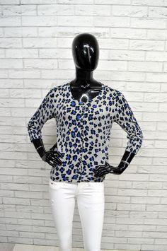 Cardigan PINKO Donna Taglia L Woman Pullover Maglione Vintage Cotone Blu a  Pois 57c4c45db3af