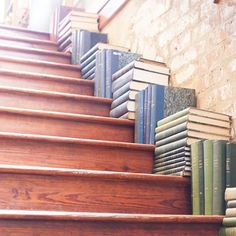 Perfect stair decor for any book lovers out there! Also, a conversation starter!