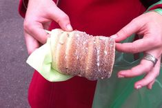 Trdelnik - Slovak Czech Sweet Pastry Recipe -In prague now and can't get enough of these! Sooo good.