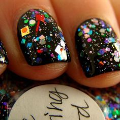 Party Nails!!! Love this polish! Makes me think of New Years Eve!