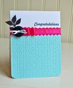 Congratulations card with Dainty #EmbossingFolder