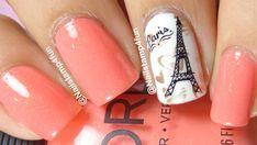 Paris Nails: Bundle Monster & Nail Stamping, HOW TO Shrink image on stamper and enlarging. Paris Nail Art, Paris Nails, Matte Nails, Acrylic Nails, Fun Nails, Pretty Nails, Types Of Nails, Cute Nail Designs, Nail Stamping