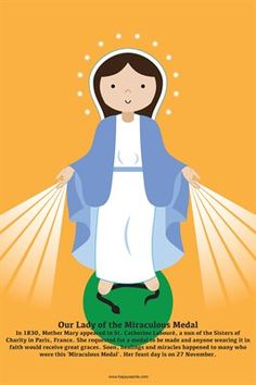 Happy Saints Mother Mary Posters: Happy Saints Our Lady of the Miraculous Medal Poster, $5.00 from MagCloud