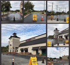 Recent #Sealcoating Job in progress  at the Orlando Ale House by our ABC Paving & Sealcoating Team! #ParkingLotMaintenance #Asphalt