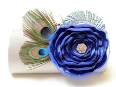 Items similar to Silver & Royal Blue Clutch - Bridal Clutch - Bridesmaid Clutch - Peacock Feather Clutch With Rhinstones - Royal Blue Sapphire Flower Clutch on Etsy Sapphire Blue Weddings, Blue Sapphire, Royal Blue Flowers, Bridesmaid Clutches, Bridesmaid Dresses, Wedding Dresses, Deep Silver, Blue Clutch, Bridal Clutch