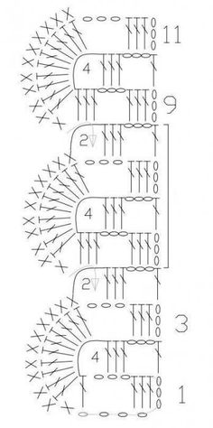 Fabulous Crochet a Little Black Crochet Dress Ideas. Georgeous Crochet a Little Black Crochet Dress Ideas. Crochet Border Patterns, Crochet Lace Edging, Crochet Diagram, Crochet Chart, Crochet Trim, Filet Crochet, Irish Crochet, Crochet Designs, Knit Crochet