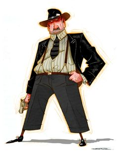 """My private detective for """"The Character Design Challenge""""!"""