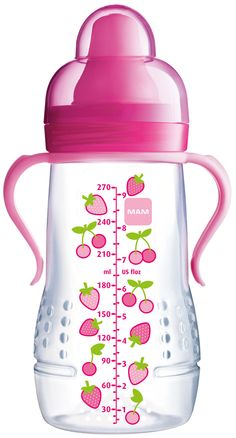 #MAM Hold Me #Bottle #Strawberry Design 270ml available online at http://www.babycity.co.uk/