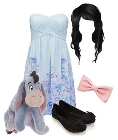 """Eeyore"" by heatherchristine1408 ❤ liked on Polyvore featuring Forever New, Accessorize, Disney and Forever 21"