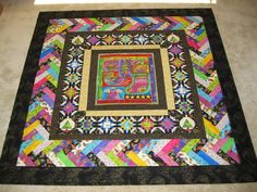 Five Ladies A Quilting: my finished Laurel Burch christmas quilt.