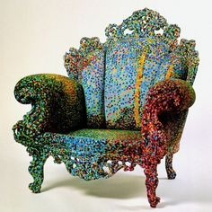 "The ""Proust"" chair is the most famous design by Italian designer Alessandro Mendini. (http://www.design-museum.de/en/collection/100-masterpieces/detailseiten/poltrona-di-proust-alessandro-mendini.html)"