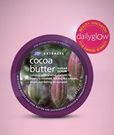 OMG, our Boots Extracts Cocoa Butter Sugar Scrub was just named Best Body Scrub in the Daily Glow Beauty Awards! So exciting!! Want a jar? Get it (for only $10) here: http://www.shopbootsusa.com/product/6865