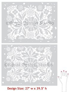Wall Pattern Stencil Skylar's Lace Allover Stencil for Wall Decor and More.