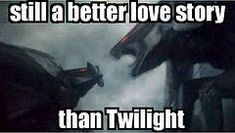 Godzilla muto still a better love story than Twilight.... i'm glad i'm not the only one who thought this during this scene XD